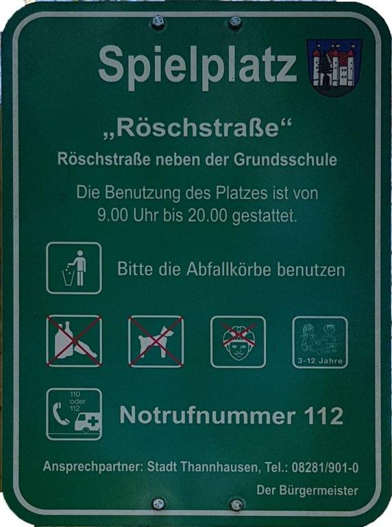 Spielplatz Info Röschstraße