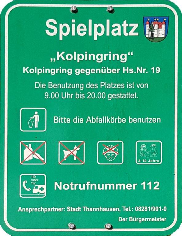 Spielplatz Info Kolpingring