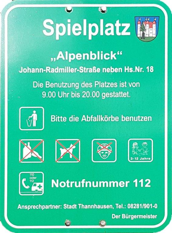 Spielplatz Info Alpenblick