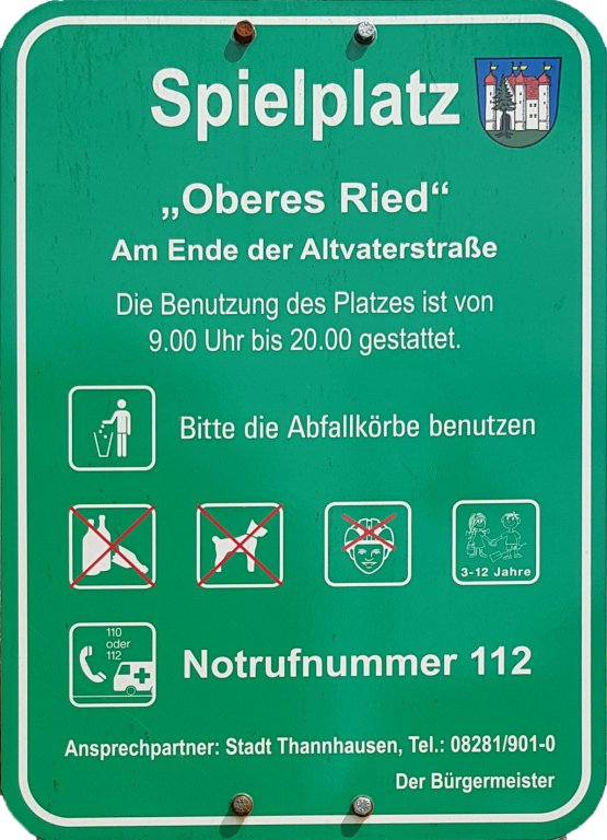 Spielplatz Info Oberes Ried