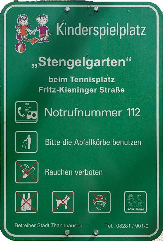 Spielplatz Info Stengelesgarten